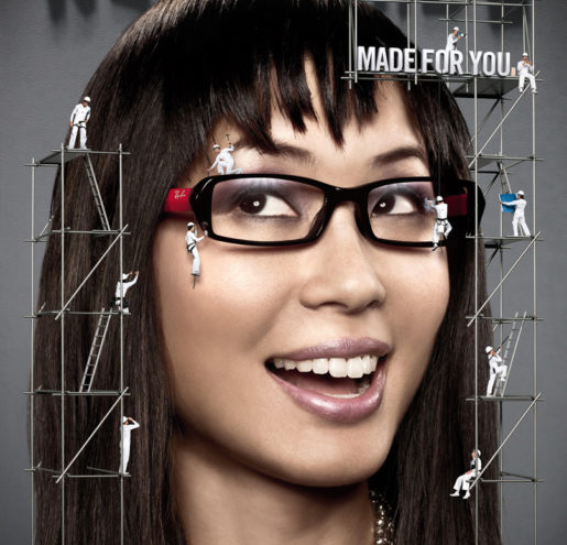 Ray ban girl ads